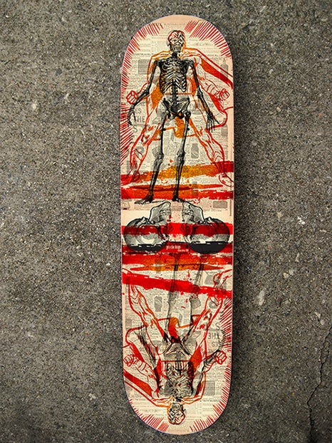"Image of ""Skin & Bones Hero"" Limited Edition Skate Deck"