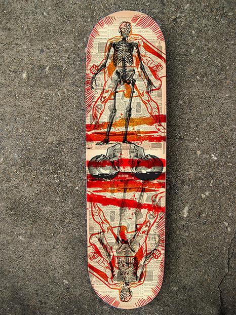 """Skin & Bones Hero"" Limited Edition Skate Deck"
