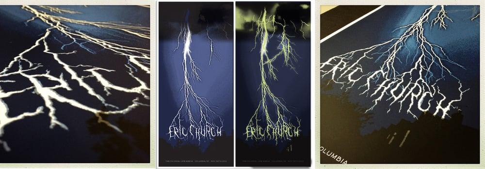 Eric Church Lightning Poster, Columbia, SC