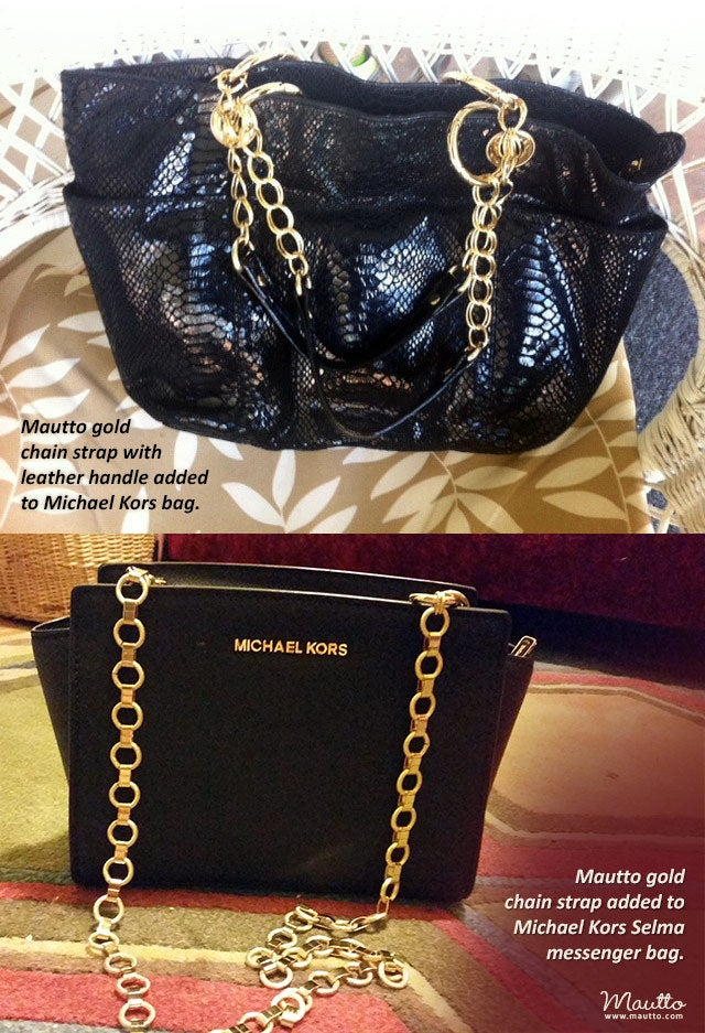 michael kors bag with chain strap