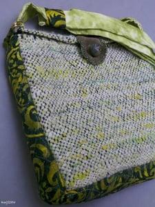 Image of SALE! Green Snow Rockstar, handmade bag