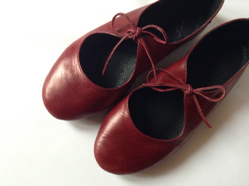 Image of Passion ballet flats in Deep Red
