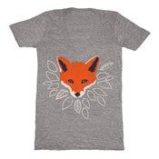 Image of V-Neck Gray Fox - Unisex XXS