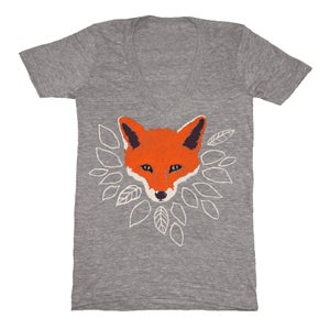 Image of V-Neck Gray Fox