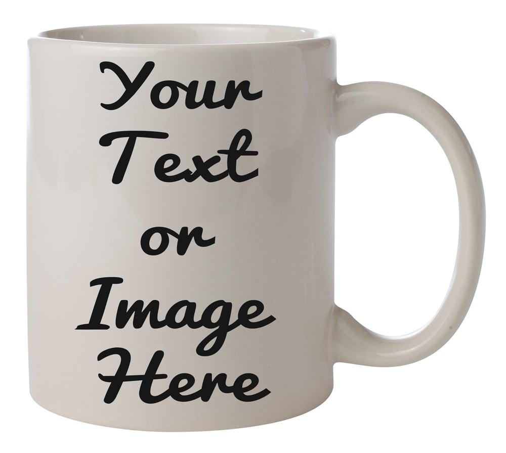 Sublimation Printed Personalised Mugs Top Print