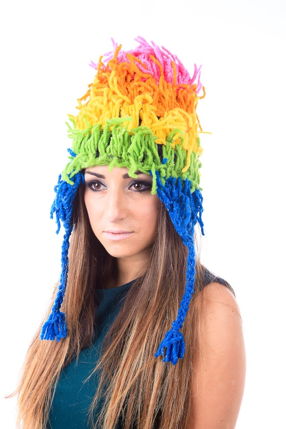 Image of Rainbow Frond Hat (AHE004)