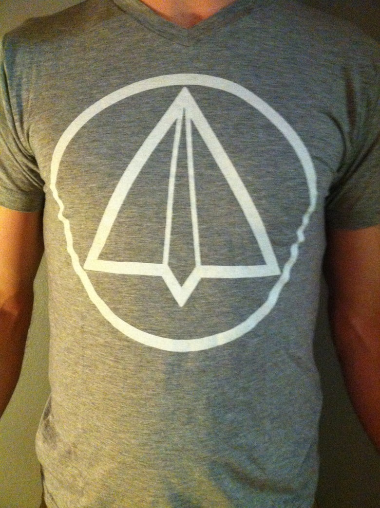 Image of Grey Paper Airplane V-Neck