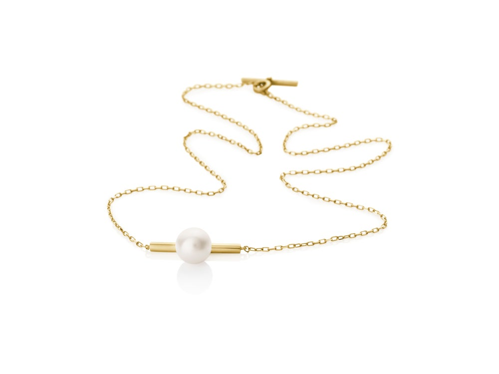 Image of Necklace w pearl in 18 carat gold