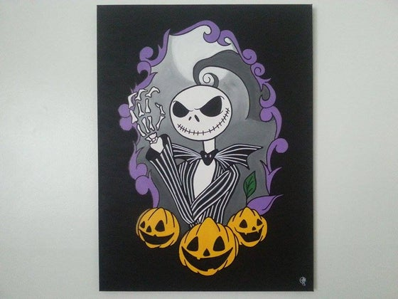 Image of Custom Nightmare Before Christmas Canvas