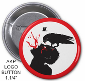 Image of AKP LOGO - CROW/MAN - PIN BUTTON 1.1/4""