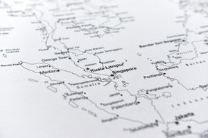Image of Southeast Asia Map