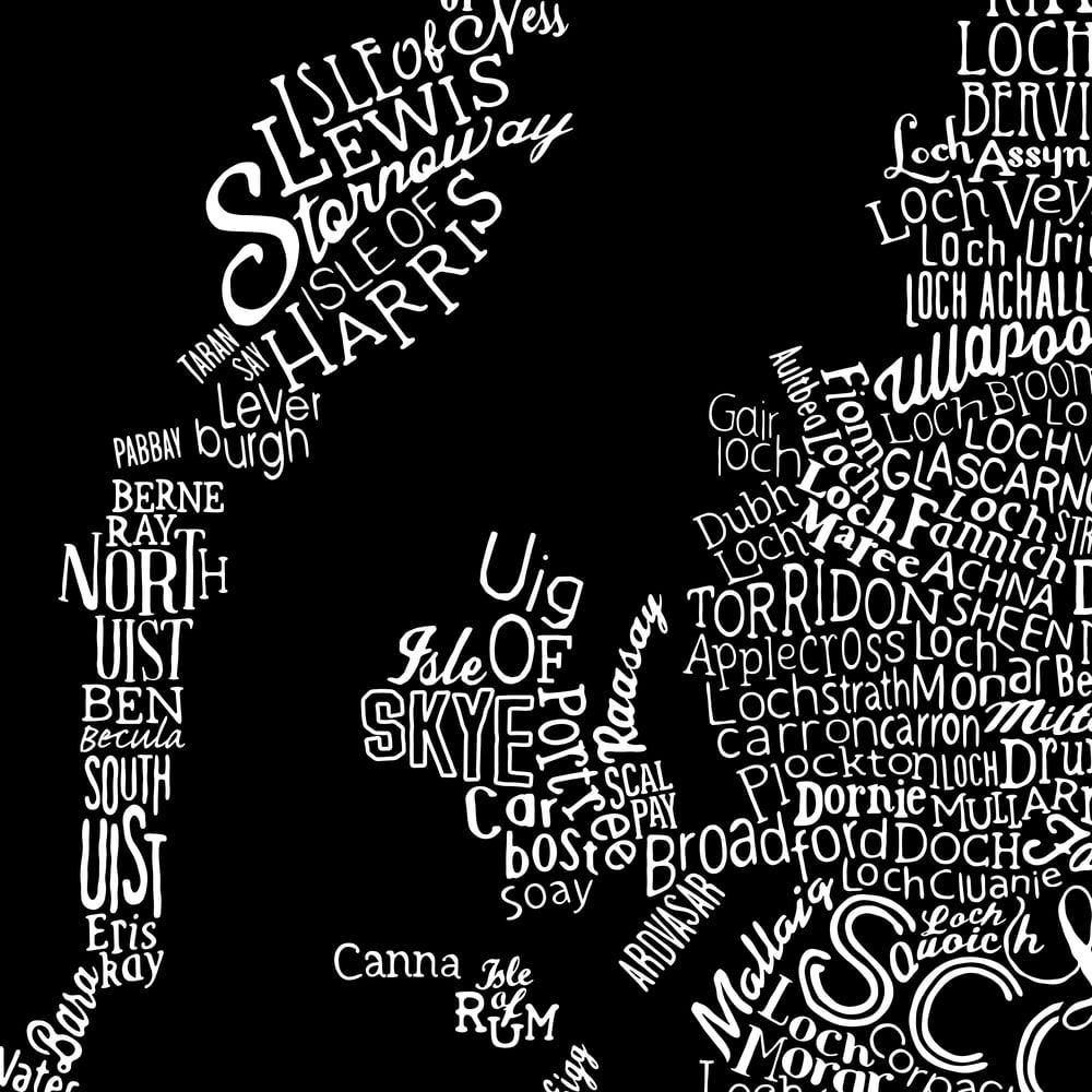 Great British Type Map (Black)