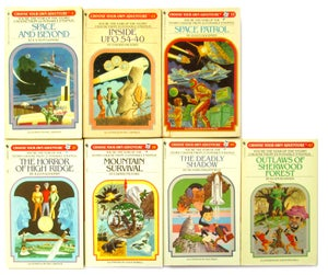 Image of Choose Your Own Adventure Books from the 80's