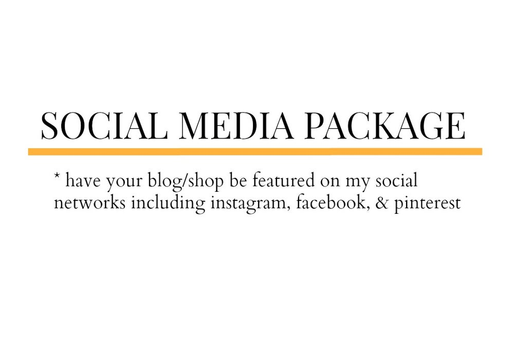 Image of Social Media Package