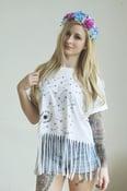 Image of Dandelion Fringe Hem Festival T Shirt