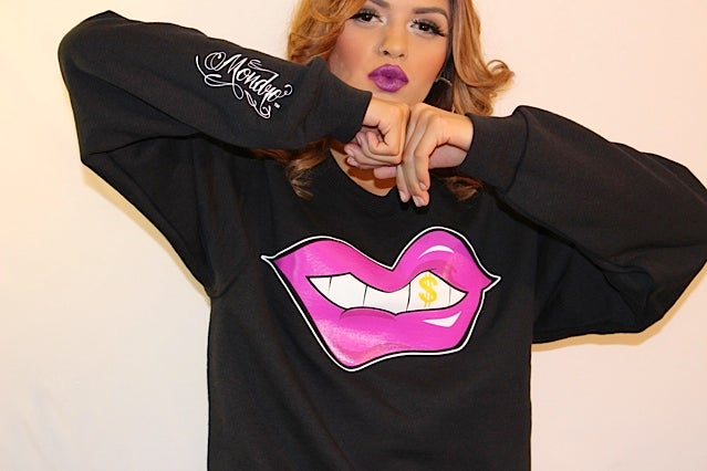 Hu$tle Lips Crew Neck