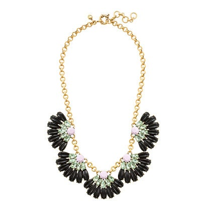 Image of Daisy Petal Black Statement Necklace