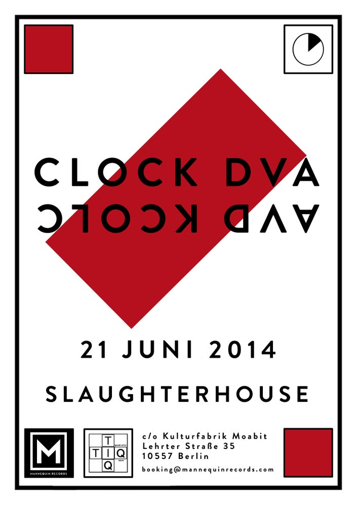 Image of Clock DVA - Admission Ticket + Silkscreen Poster - June 21 2014 - Slaughterhouse - Berlin