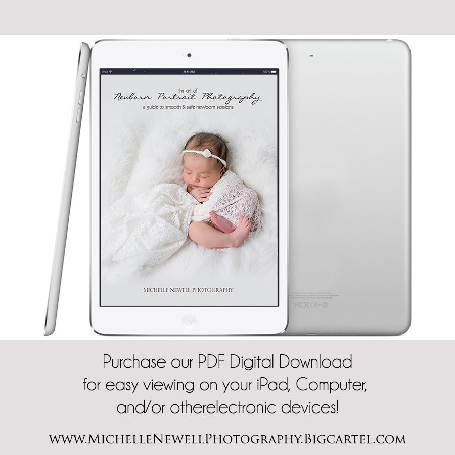 Image of the art of newborn photography digital copy