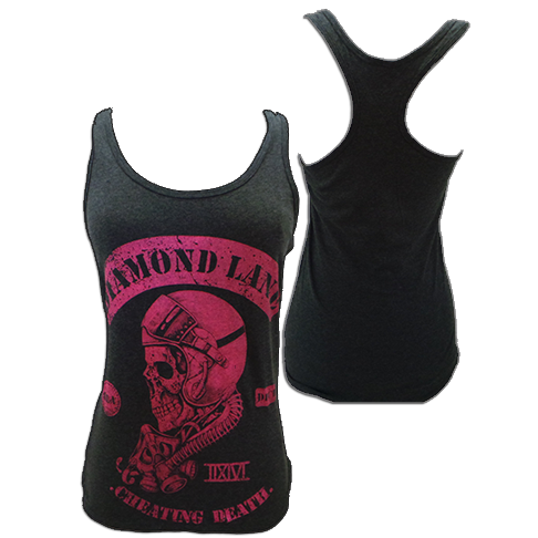 "Image of Women's ""Cheating Death"" Tank Top - Grey & Pink"
