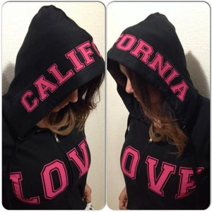 Image of Ladies - California Love Black Zip up hoody