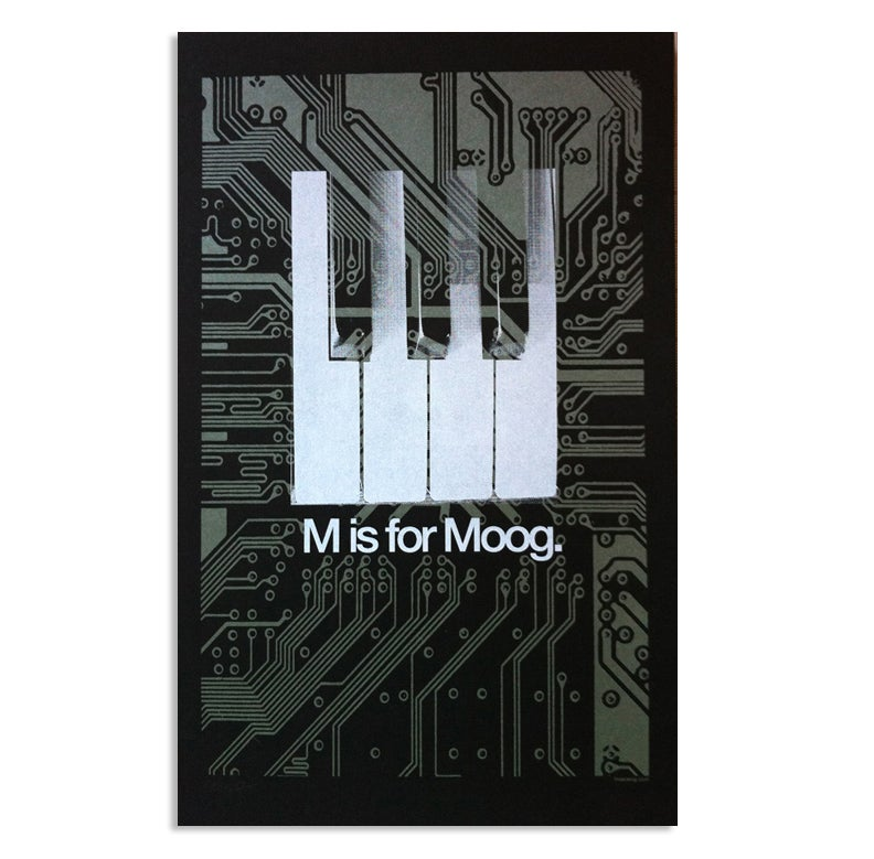 "Image of ""M is for Moog"" Art Print for Moogfest"