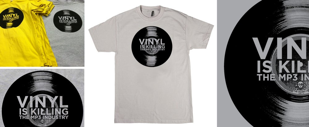 """Vinyl is Killing the MP3 Industry"" T-Shirt"