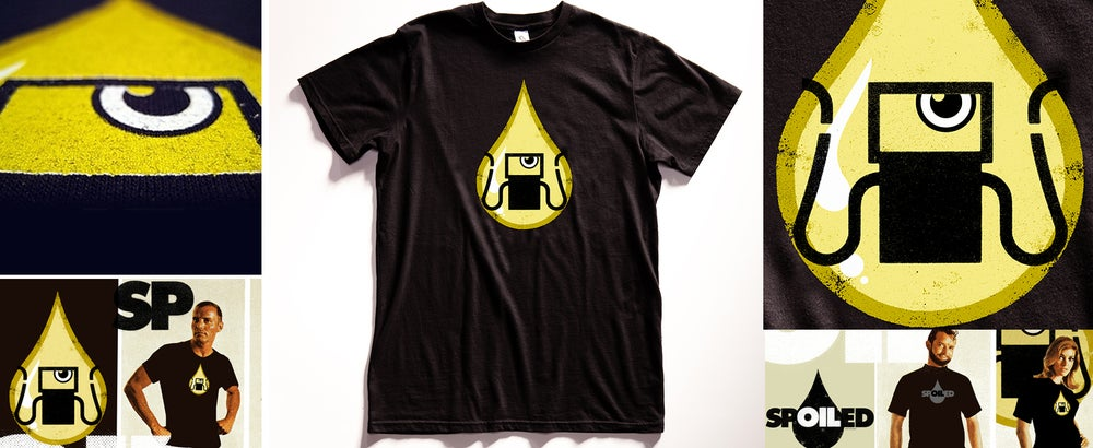 """Gas Tank Oil Monster"" Graphic T Shirt"