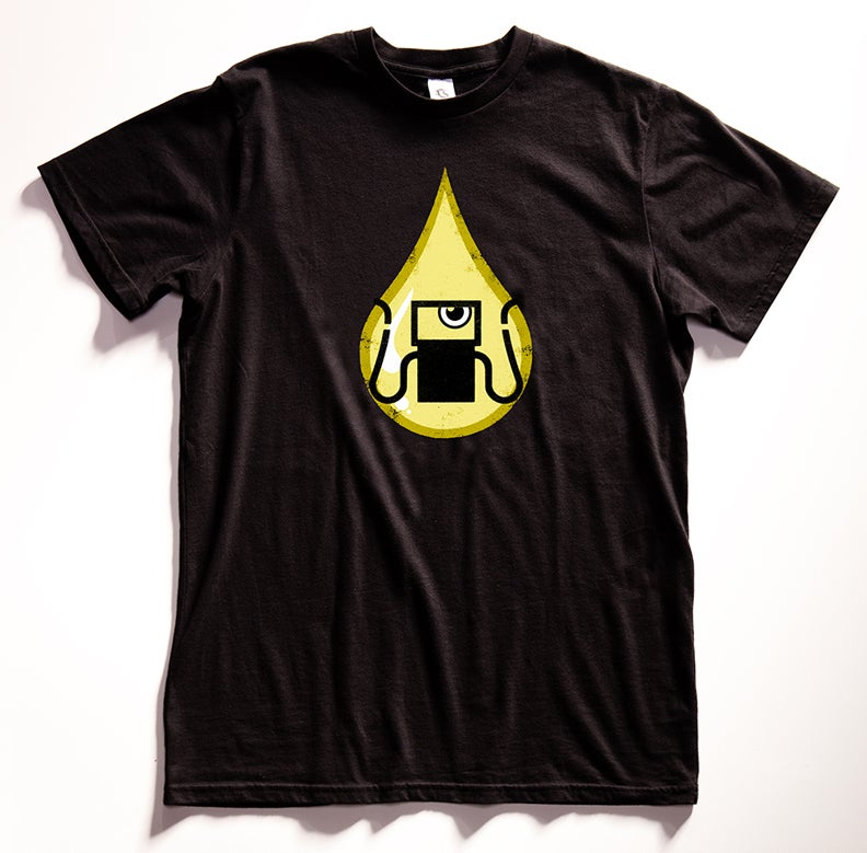 """""""Gas Tank Oil Monster"""" Graphic T Shirt"""