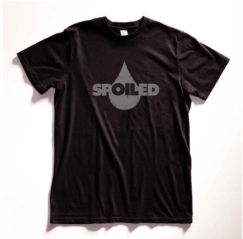"Gas Oil ""Spoiled"" Black Graphic T Shirt"