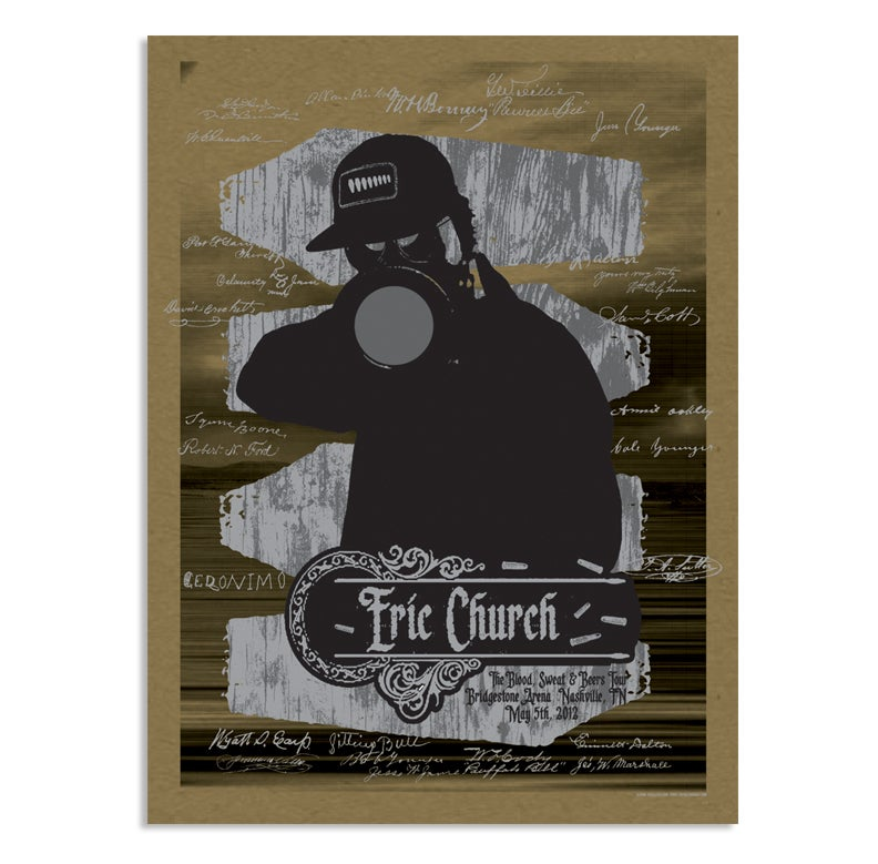 Image of Eric Church Nashville Poster