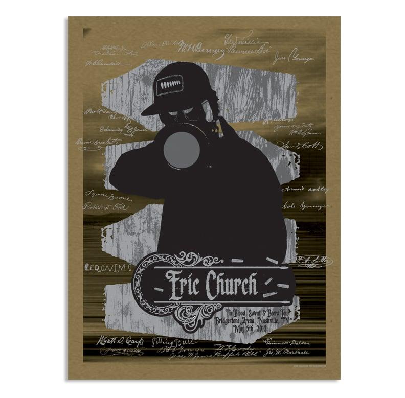 Image of Eric Church Nashville Poster