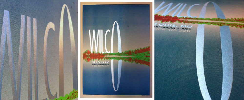 Wilco St. Louis Arch Poster