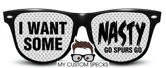 Image of My Custom Specks San Antonio Spurs I Want Some Nasty