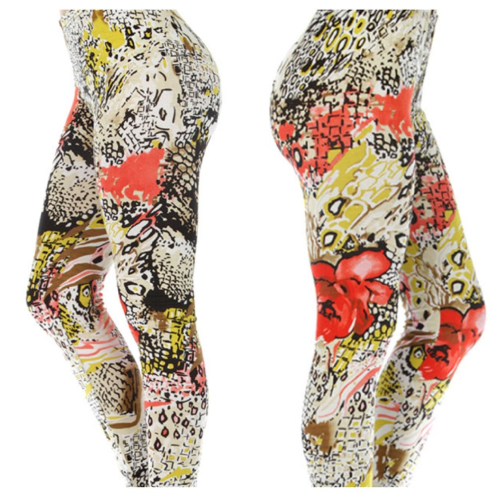 Image of Animal Print Leggings