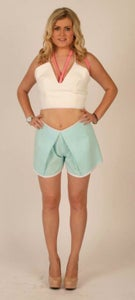 Image of SPAGHETTI STRAP CROP // FOLDED SHORTS.