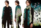 "Image of ""Ivy"" Print Wool Shawl/Scarf"