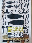 Image of SWIMMING IN THE SEA TEA TOWEL