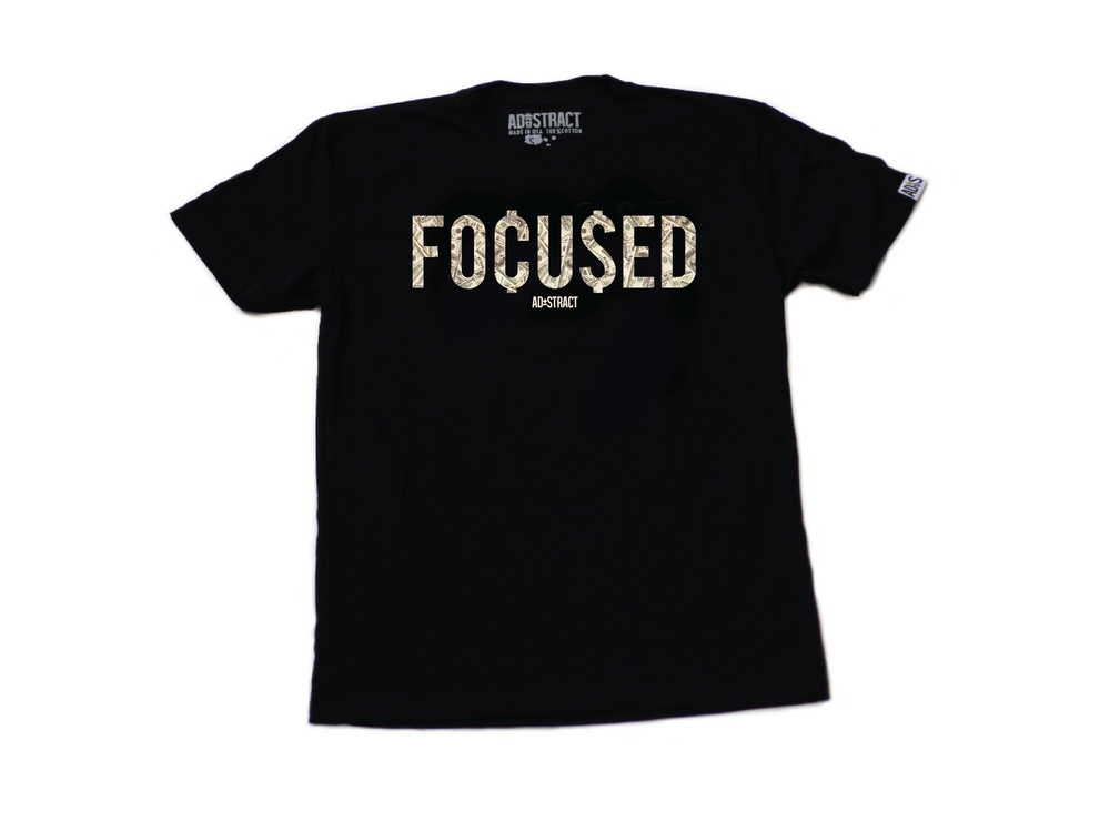 "Image of FOCUSED 2.0 ""BLACK"" TSHIRT ... (MENS)"