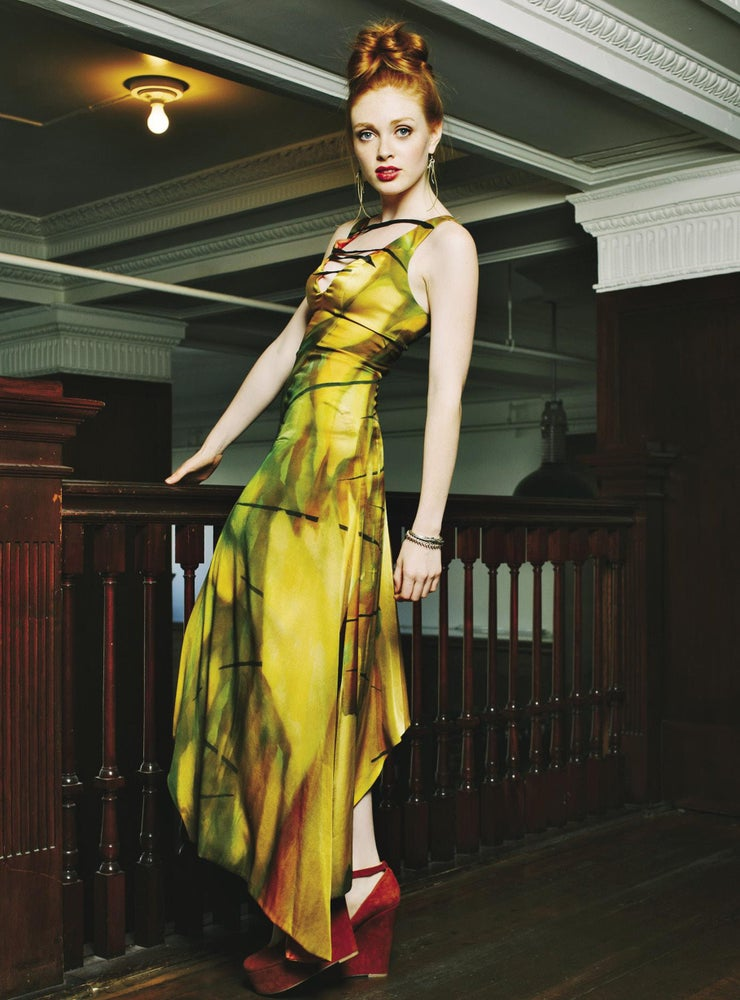"Image of ""Electric Stream""  Silk Dress"