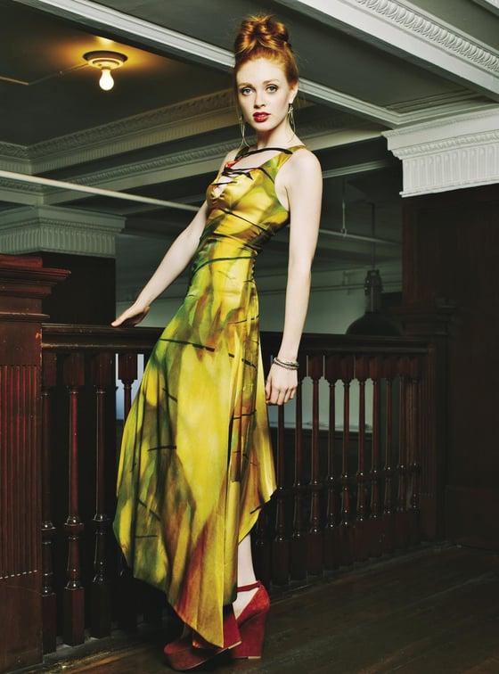 "Image of ""Electric Stream""  Silk Dress"