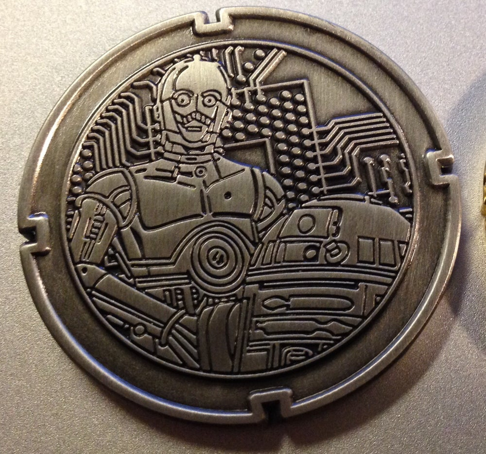 Image of Droid Series #1 R2D2 and C3PO Nickel