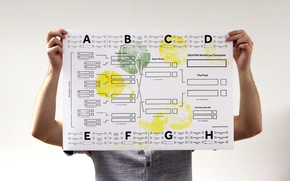 Image of World Cup Wall Chart – Yellow & Green