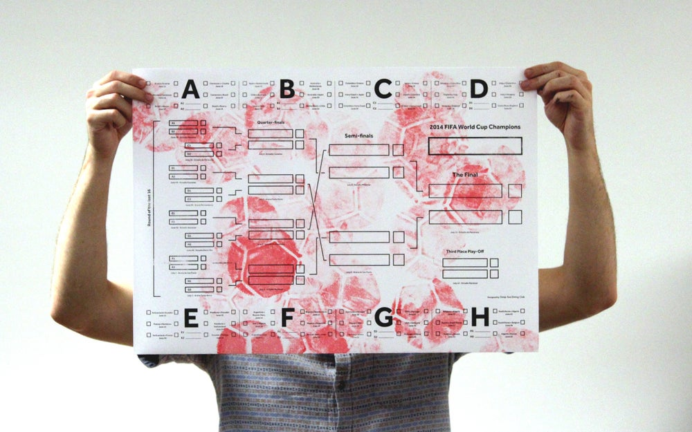 Image of World Cup Wall Chart – Red