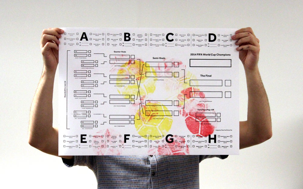 Image of World Cup Wall Chart – Red & Yellow