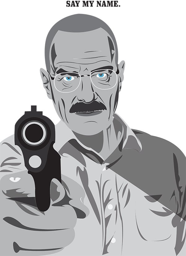 "Image of Walter White ""Heisenberg"" A3 print"