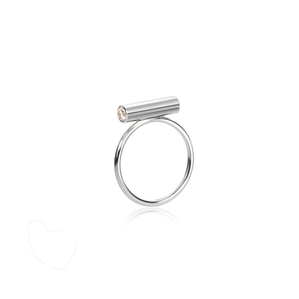 Image of Pin Ring Silver Medium