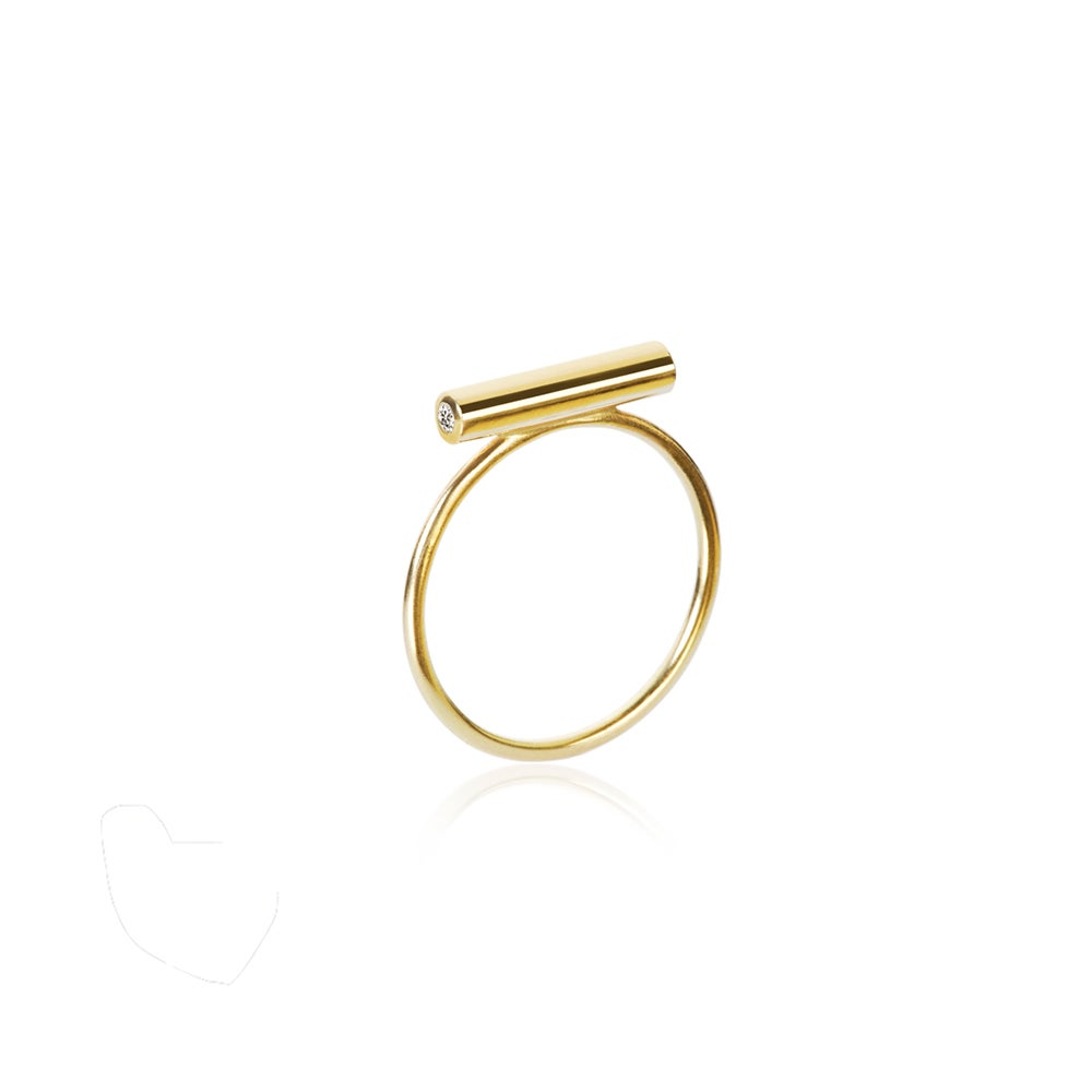 Image of Pin Ring 18 carat Gold Small