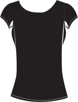 Image of Women's High Scoop Cap Sleeve Black