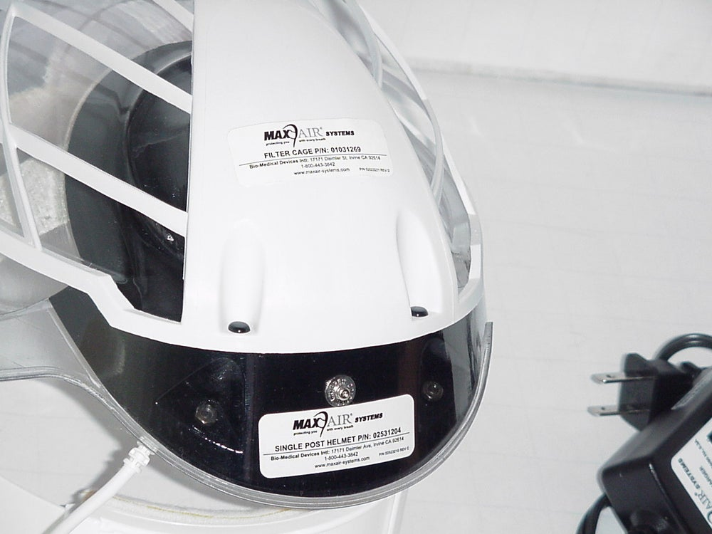 "Image of MaxAir CAPR Helmet, ""Filter Cage, and Blower Assembly"" Powersupply"